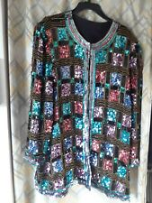 Vintage Sequin Beaded Jacket Coat  AS Found