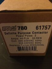 New listing Mars 61757 Furnas Controls 240V 40Amp 2 Pole Contactor 45Gg20Agl
