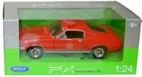 Ford Mustang GT 1967 - Red  1/24 Welly Model Car