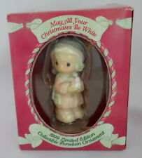 Precious Moments May All Your Christmas Be White Dated 1999 Figurine Ornament