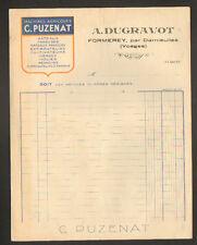 """FORMEREY prés DARNIEULLES (88) MACHINES AGRICOLES C. PUZENAT """"A. DUGRAVOT"""" 1941"""