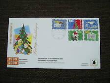 FDC Philato W129-3 Decemberzegels blanco open klep