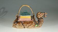 Majolica Sitting Camel Figural Teapot, Japan c. 1930