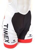 Castelli Timex Factory Team Women Bib Cycling Shorts SMALL Black White Red Trek