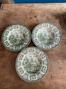 3 X English Ironstone Tableware Old Inns Series HARE Large Bowls