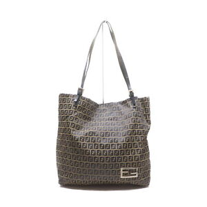 Fendi Tote Bag Zucchino Light Brown Nylon 2201549