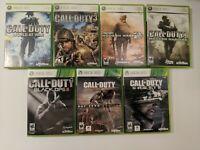 Xbox 360 7 Game Lot Bundle Call Of Duty World Black Ops Modern Warfare