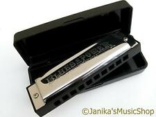 Professional swan blues power harmonica+case harp E tuned 10 hole 3 octaves