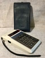 Vintage Canon LE-81 RED LED - Rare Calculator History with Case Works Well