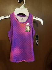 3T girls Adidas tank top NWT climalite purple & pink retail $23