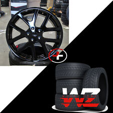 "22"" Viper Style Wheels w Tires Gloss Black Fits Dodge Charger Challenger Magnum"