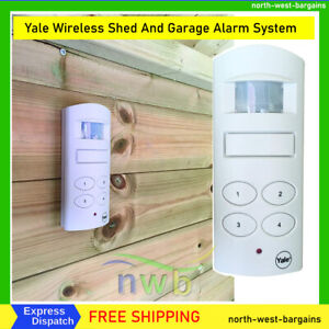 Yale Wireless Shed And Garage Alarm System Home Security Motion Detection White
