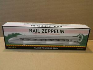 Schylling Rail Zeppelin Tin Wind Up Train Propeller Spins NRFB