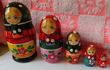 "old russian design Zagorsk Russian Nesting Doll 5 Pcs 4.5"" #5"