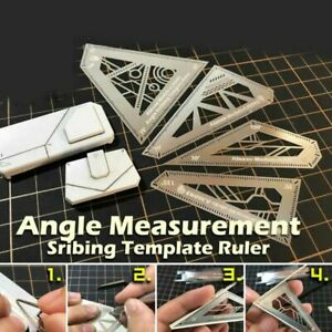 Multifunctional 4 in 1 Angle Measurement Template Ruler for Model Building Tools