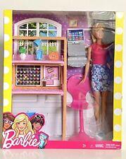 Barbie Doll Career Office Playset Laptop Printer Desk Chair Lamp Plant Mattel