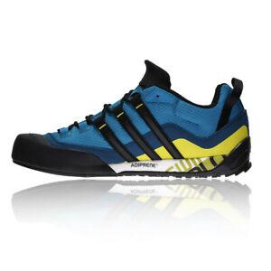 adidas Mens Terrex Swift Solo Trail Walking Shoes Blue Sports Outdoors