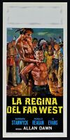 Plakat Die regina Der Far West Barbara Stanwyck Ronald Reagan L08