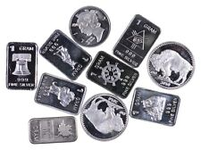 (10) Limited 1 Gram .999 Silver Bars/Rounds Lot Collection *498