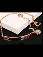 Happiness Rose Gold Crystal Bangle Bracelet Designer Style