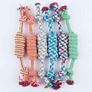 Dog Rope Chew Toys Kit Tough Strong Knot Ball Pet Puppy Cotton Teething Toy