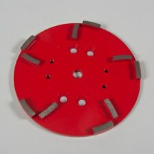 Red Concrete Grinding Plate 250mm .For Grinding Medium to Hard Concrete. (10 ...