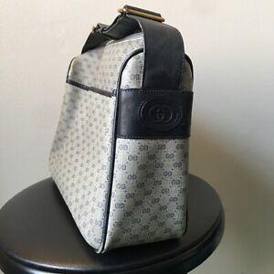 Vintage 80s Gucci GG Monogram Messenger Crossbody Bag