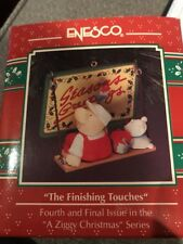 Enesco Christmas Ornament: Ziggy: The Finishing Touches Ziggy Painting Sign New