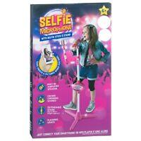 Selfie Microphone with Selfie Stick & Stand Kids Karaoke Sing Along Toy Playset