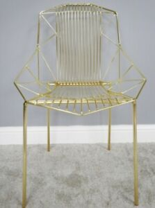 Baxter Chair by The Quaint House -Metal, Gold