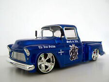 1955 Chevy Sidestep - Ned Kelly Custom Graphics 1:24 Blue Diecast Pickup