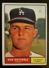 1961 Topps Baseball #260 Don Drysdale L.A. Dodgers