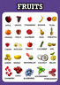 Fruits Educational Pre-school Wall Poster Chart for Kids Learning A3/A4