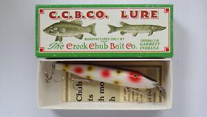 C.C.B.CO. Creek Chub Pikie #1743 clown fishing lure Limited Edition