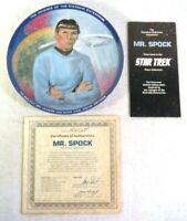 Mr. Spock Nimoy Star Trek Collector Plate Susie Morton Limited Edition Box COA
