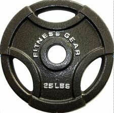 """(2) Fitness Gear 25 lb Olympic 2"""" Weight Plates - 50 Pounds Total Ships Fast!"""