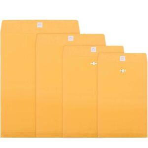 4 Sizes Clasp Envelopes Kraft Paper Catalog Clasp Envelope with Clasp Closure...