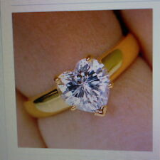 Heart Diamond Solitaire Yellow Gold Fine Rings