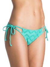 NWT Women's Roxy Lacy Days Tie Side Waterfall Green Bikini Bottoms Small