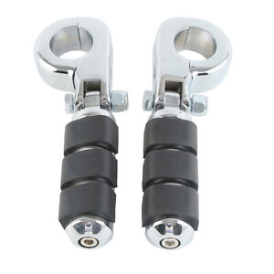 """1 1/4"""" Motorcycle Foot Pegs With Engine Guard Mount Clamp Fit for Harley Touring"""
