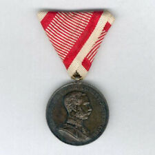 AUSTRIA. Medal for Bravery I class on wartime ribbon, Franz Joseph I, 1866-1914