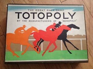 Totopoly Board Game By Waddington Vintage Edition.   No Board