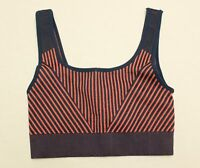 Fabletics Women's Alexis Stripe Seamless Sports Bra SV3 Blue Small NWT