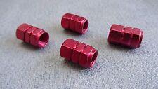 FIAT COUPE RED METAL POLVERE TAPPI VALVOLA PNEUMATICO RUOTA in alluminio solido COPERCHIO ESAGONALE