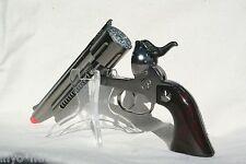 Silver Cap Gun Pistol Made in Spain 12 Shot Ring Cap BRAND NEW 10007