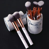 Make Up Brushes Set Face Concealer Foundation Powder Marble Texture Handle Brush