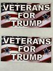 "2 Donald Trump 2020 Magnet ""Veterans for Trump"""