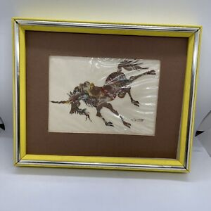 Vintage Chinese Paper Art By HOu-tien Cheng 1970s Signed Certified History Rare