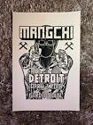 David Choe - DVDASA Mangchi Tour Poster - Detroit - Mike Giant - Art