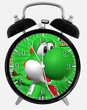 "Super Mario Yoshi Alarm Desk Clock 3.75"" Home or Office Decor W242 Nice For Gift"